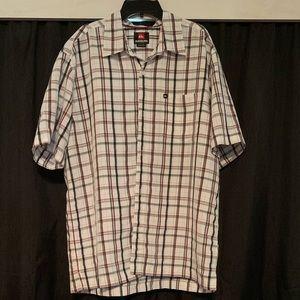 Quiksilver short sleeve button down shirt